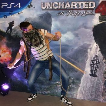 "Lucas Liaskos simulating ""Uncharted"" game in real life"